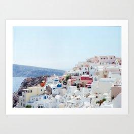 Santorini Skyline Art Print