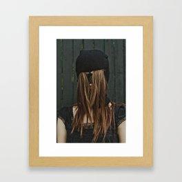 Hairy Face Framed Art Print