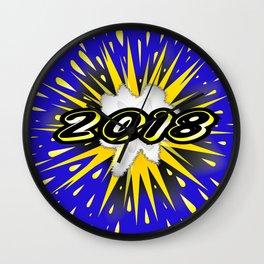 2018 Cartoon Bubble Wall Clock
