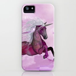 Wonderful unicorn in violet colors iPhone Case