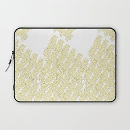 Metal Lace - golden yellow on white Laptop Sleeve