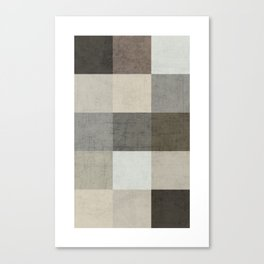 color block - gray Canvas Print