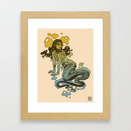 Lamia Yellow and Blue Framed Art Print