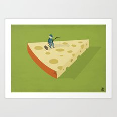 Slice fishing Art Print