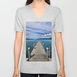Stepping to the Sea Unisex V-Neck