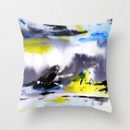 Watercolor Abstract Horizons Throw Pillow