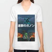 shingeki no kyojin V-neck T-shirts featuring Shingeki No Ganon by Yoash