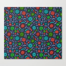 Microbial Navy Bliss Canvas Print