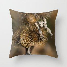 Burdock in the Fall Throw Pillow