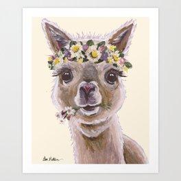 Holly The Alpaca, Alpaca Art Art Print