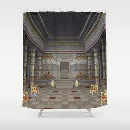 Ancient Egyptian Hall Shower Curtain