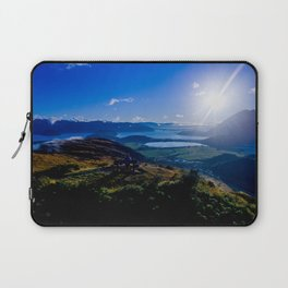 lake wanaka covered in blue colors new zealand beauties and mountains at sunrise Laptop Sleeve