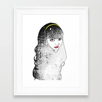 kiki Framed Art Prints featuring Kiki by David Payne