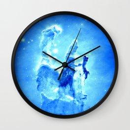Blue neBULA  Wall Clock