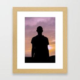 Sunset Sound. Framed Art Print