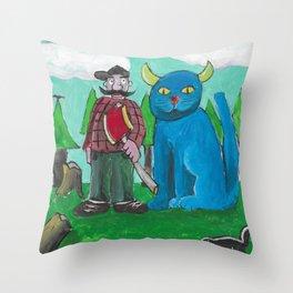 Minnesota Cat Throw Pillow