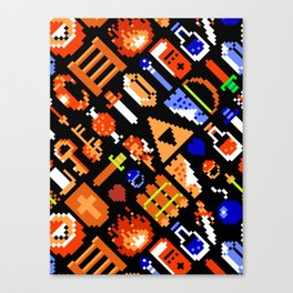 The Legend of Zelda (NES) Pattern Canvas Print