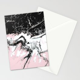 pink and black marble Stationery Cards
