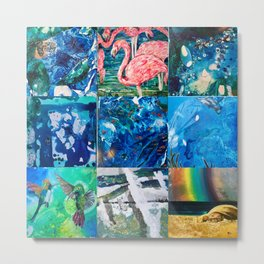 Environmental Tropical Oceans and Animals Metal Print