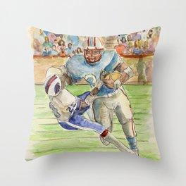 Earl Campbell - Running Back Throw Pillow