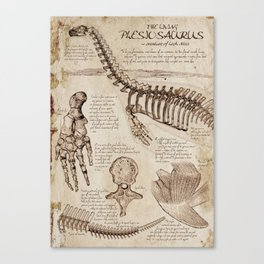 """Loch Ness Monster: """"The Living Plesiosaurus"""" - The lost notebook account Canvas Print"""
