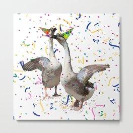 Partying Geese Metal Print