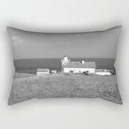 beach front lighthouse medulin croatia istria europe black white Rectangular Pillow