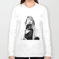 angelina jolie Long Sleeve T-shirts featuring Angelina Jolie by Jade Chauvin