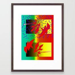 trippy wiggle Framed Art Print