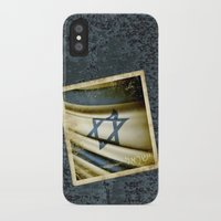 israel iPhone & iPod Cases featuring Israel grunge sticker flag by Lulla
