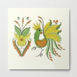 Folklore Rooster - Eivor Metal Print