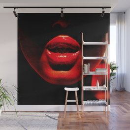 Hot Lips Wall Mural