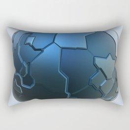 Blue technology ball Rectangular Pillow