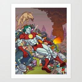 The Death of Captain Planet Art Print