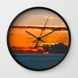Glaring light Wall Clock