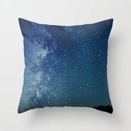 Milky Way Over the Tetons Throw Pillow