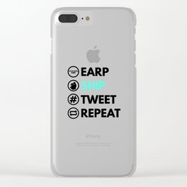 Earp Ship Tweet Repeat (Black) inspired by Wynonna Earp Clear iPhone Case
