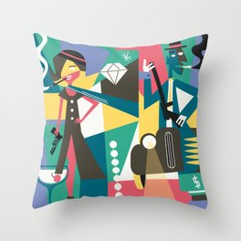 Gangster Couple Throw Pillow
