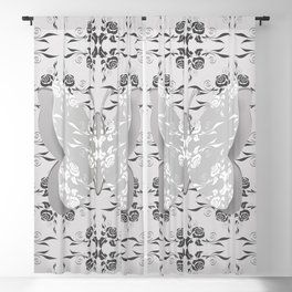 Paper butterfly Blackout Curtain