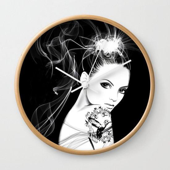 Smoke Girl Wall Clock