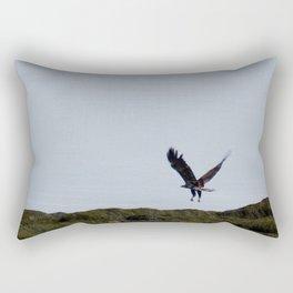 Osprey In Flight on the Ocean Rectangular Pillow