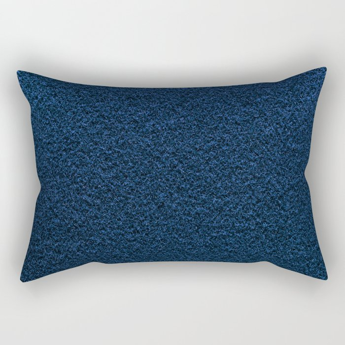 Dark Blue Fleecy Material Texture Rectangular Pillow