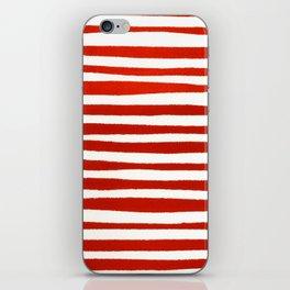 Waterline Pattern in Red iPhone Skin