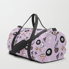 Rockabilly Lucky 13 Purple Duffle Bag