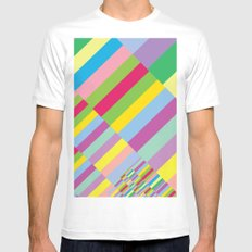 Stairs to Office  [COLORS] [COLOR] [COLORFUL]  Mens Fitted Tee White MEDIUM