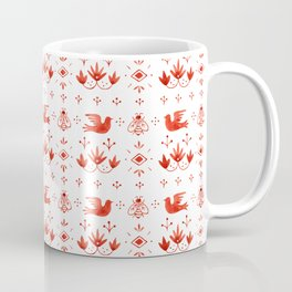Doves & Bees Pattern Coffee Mug