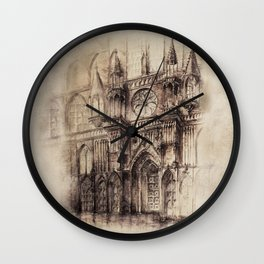 Gothic Cathedral 2 Wall Clock