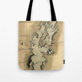Vintage Map of Lake Champlain (1865) Tote Bag