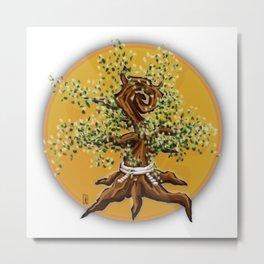 Sakura Tree in Summer Metal Print