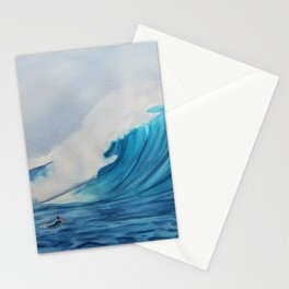 Big Wave Surfing Painting Stationery Cards